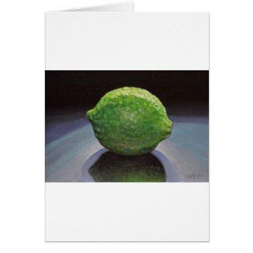 Beach Themed Fresh Lime Card