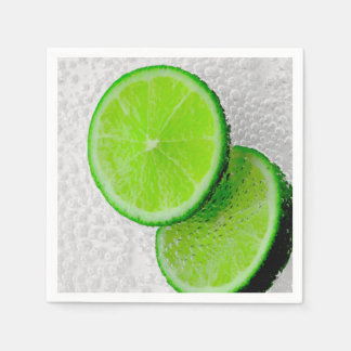 Fresh Lime Fruit Sparkling Water Paper Napkin