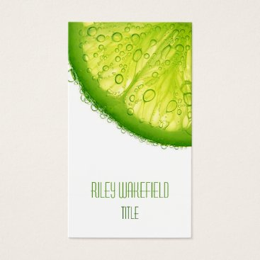 Professional Business Fresh Lime Slice Business Card