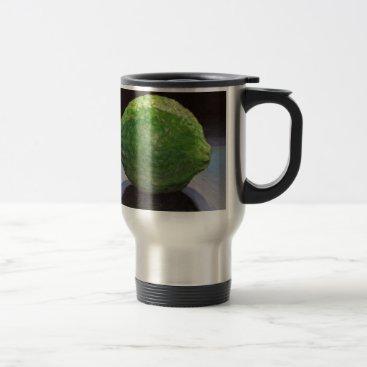 Beach Themed Fresh Lime Travel Mug