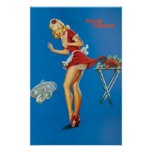 Fresh Lobster Blonde Waitress Pinched Posters