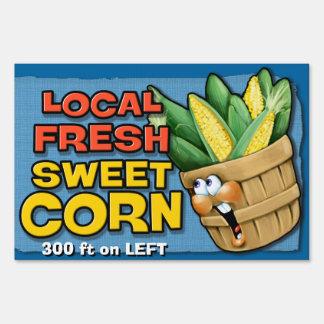 Fresh Local Corn Farmer's Market Road Sign Custom!
