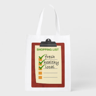 fresh local healthy reusable grocery bag
