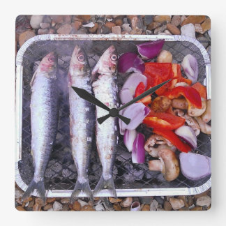 Fresh Mackerel Wall Clock