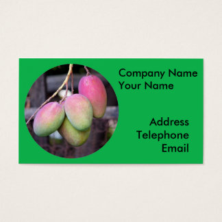 Fresh Mangoes and Tropical Fruit Business Card