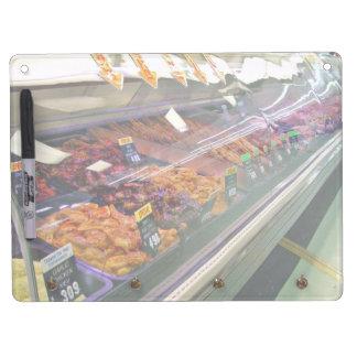 Fresh Meat Deli Counter at supermarket Dry Erase Whiteboard