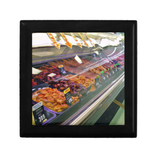 Fresh Meat Deli Counter at supermarket Gift Box