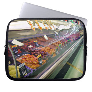 Fresh Meat Deli Counter at supermarket Laptop Computer Sleeve