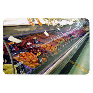Fresh Meat Deli Counter at supermarket Vinyl Magnet