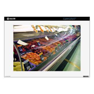 "Fresh Meat Deli Counter at supermarket Skin For 15"" Laptop"