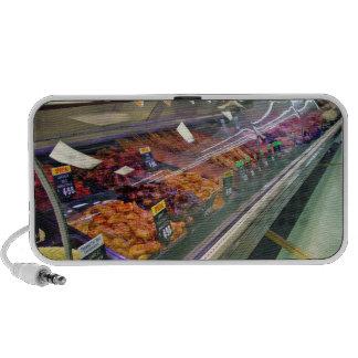 Fresh Meat Deli Counter at supermarket Laptop Speaker