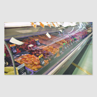 Fresh Meat Deli Counter at supermarket Stickers