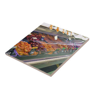 Fresh Meat Deli Counter at supermarket Tiles