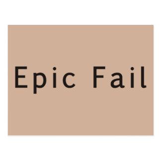Fresh Meat - Epic Fail Postcard