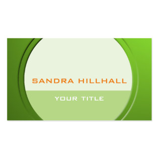 Fresh Metallic Geometric any Text and Color Business Card