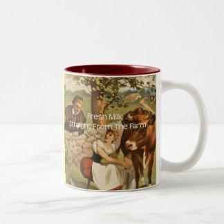 Fresh Milk Straight From the Farm Two-Tone Coffee Mug