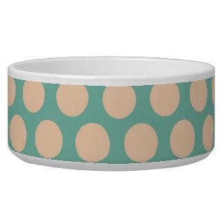 Fresh Mint Green and Yellow Circle Pattern Bowl