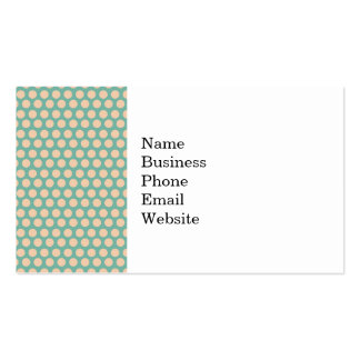 Fresh Mint Green and Yellow Circle Pattern Business Card