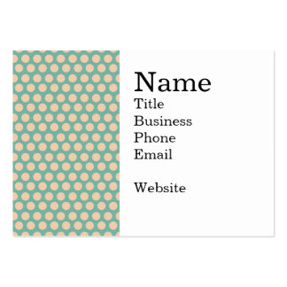 Fresh Mint Green and Yellow Circle Pattern Large Business Card