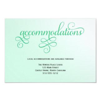 Fresh Mint Script Wedding Accommodations Card