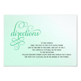 Fresh Mint Script Wedding Directions Cards