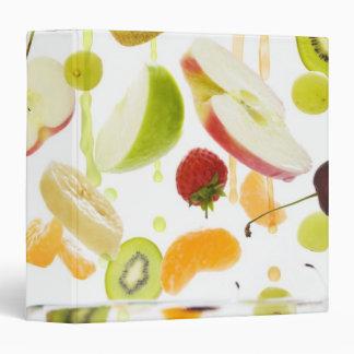Fresh mixed fruit with apple & orange juice 3 ring binder