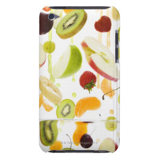 Fresh mixed fruit with apple & orange juice barely there iPod cover