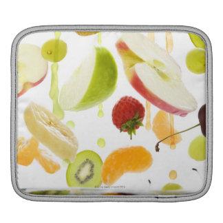 Fresh mixed fruit with apple & orange juice iPad sleeve