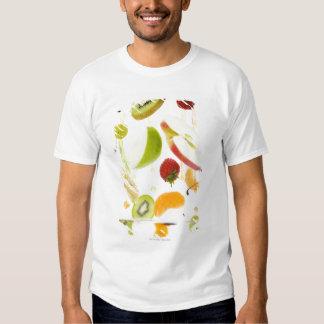 Fresh mixed fruit with apple & orange juice t-shirt