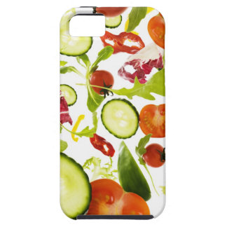 Fresh mixed salad vegetables falling to camera iPhone SE/5/5s case
