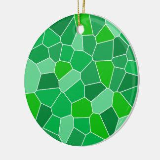 Fresh modern organic pattern Double-Sided ceramic round christmas ornament