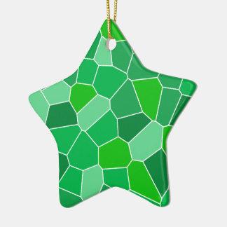 Fresh modern organic pattern Double-Sided star ceramic christmas ornament