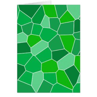 Fresh modern organic pattern greeting card