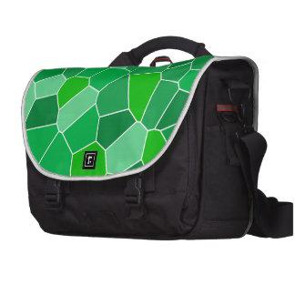 Fresh modern organic pattern commuter bag
