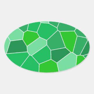 Fresh modern organic pattern oval sticker
