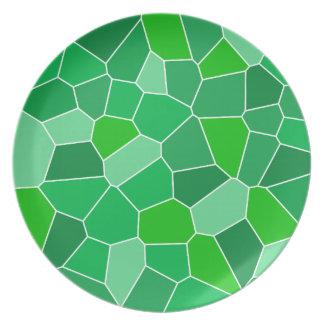 Fresh modern organic pattern dinner plates