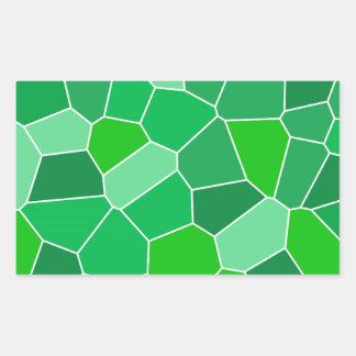 Fresh modern organic pattern rectangular sticker