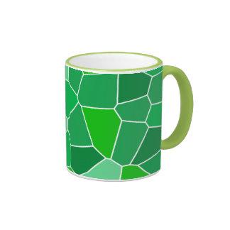 Fresh modern organic pattern ringer coffee mug