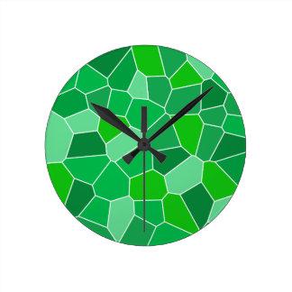Fresh modern organic pattern round wallclock