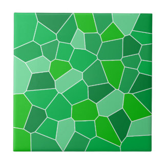 Fresh modern organic pattern small square tile