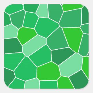Fresh modern organic pattern square sticker