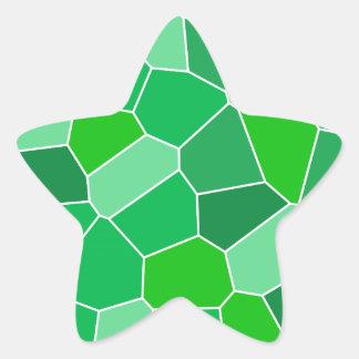Fresh modern organic pattern star sticker