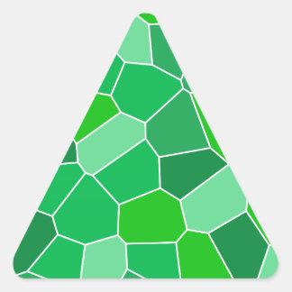 Fresh modern organic pattern triangle sticker