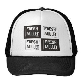 FRESH MULLET Logo - Check it Trucker Hat