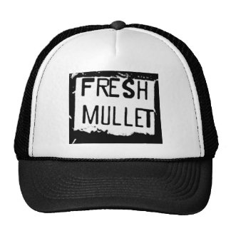 FRESH MULLET Logo Trucker Hat