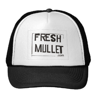 FRESH MULLET Logo - White Trucker Hat