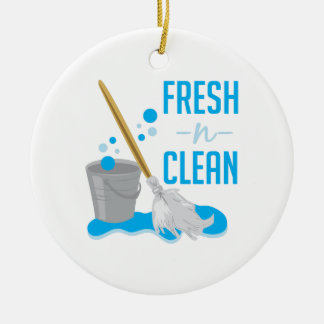 Fresh N Clean Double-Sided Ceramic Round Christmas Ornament