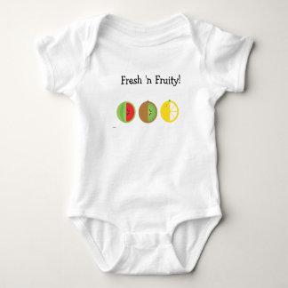 Fresh 'n Fruity One-Piece Infant Creeper White