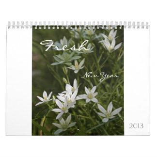 Fresh New Year 2013 Floral Calendar