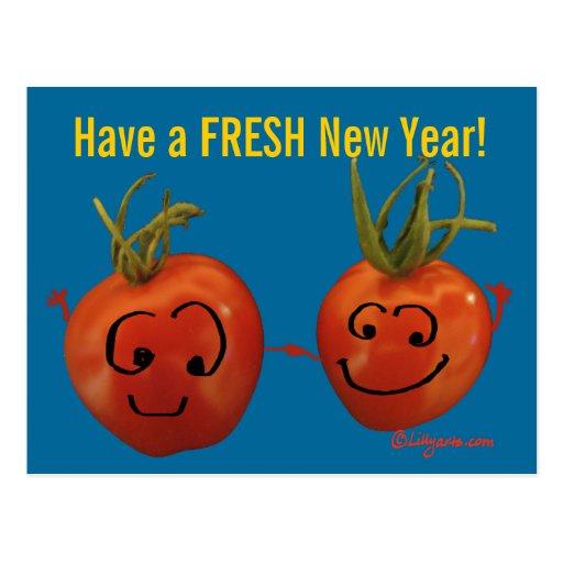 Fresh New Year Postcard